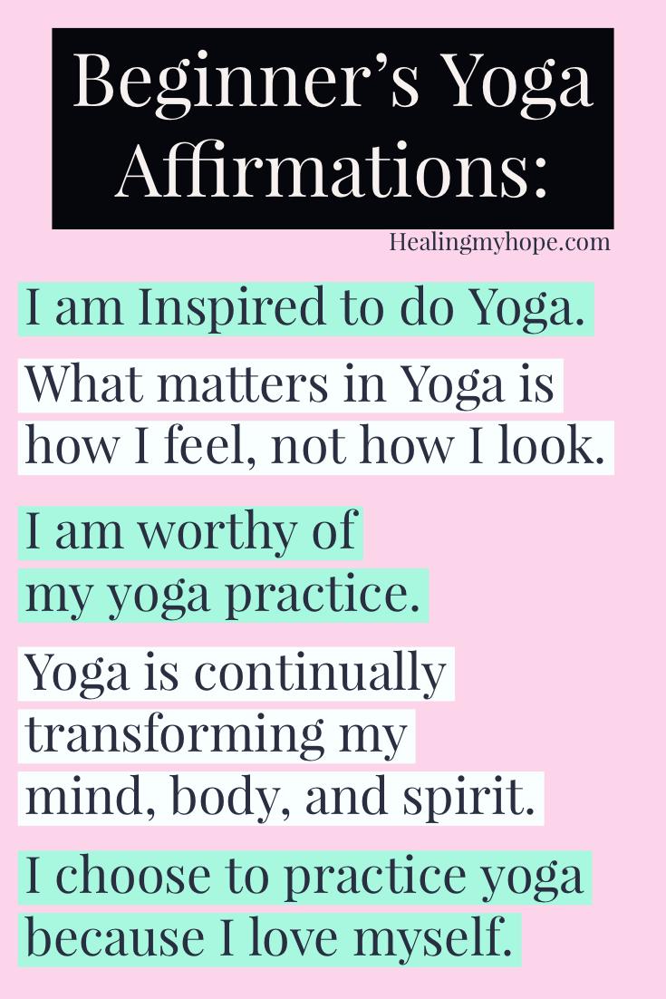 Beginner's Yoga Affirmations